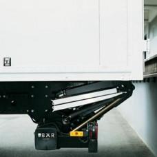 Гидроборт Bar серии RetFalt, модель BC 1500 R21 грузоподъемностью 1500 кг для среднего класса транспортных средств.