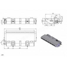 Кондиционер на FIAT DUCATO (Фиат Дукато), клиновой ремень | Автокондиционер накрышный, подвесной, 12 кВт.
